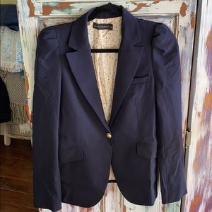 Zara Woman Single Button Navy Blazer Fully Lined M